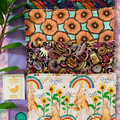 Sunflowers & kangaroos 4 pack kitchen dish cloths