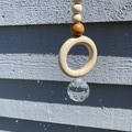 Sun Catcher with Wooden Beads