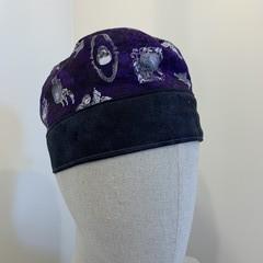 Unique reversible Scrub Hat - Men's Purple Sculls