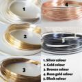 Minimal Long / Short Fish wire hoop earrings , Gold Silver Brown Black Rose gold