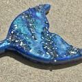 Resin Art Cheese Platter | Mermaid Tail Serving Board