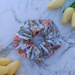 Handmade floral hair Scrunchie, bow Scrunchie, kids/ adult Scrunchies, hair elas