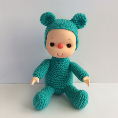 Baby Turquoise  Bear