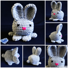 NOW FREE SHIPPING Bunny Rabbit, toys, desk deco, pin cushion