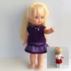Doll 33cm - 2  Handmade Outfits