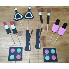 Make up cosmetic cupcake toppers