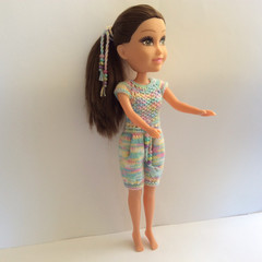 Large Fashion Doll in Multi-Coloured Jumpsuit 44cm