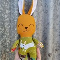 Bebe bunny softie, handmade Easter gift