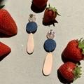 Polymer clay earrings - statement earrings Mini drops