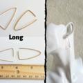 Minimal Triangle wire hoop / hug earrings , Gold Silver Brown Black Rose gold