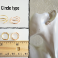 Minimal Small Spiral wire hoop earrings , Gold Silver Brown Black Rose gold