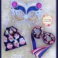 Dancing Ribbons, Embroidered Mask & Storage Bag