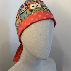 Unique reversible Scrub Hat - Hootn' Owls