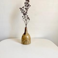 Wooden Vase, Flower bud vase, Housewarming gift, Stick vase, Dried flowers, Gift