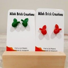 FRUIT - Apples, Bananas, Watermelon, & Strawberry Stud Earrings