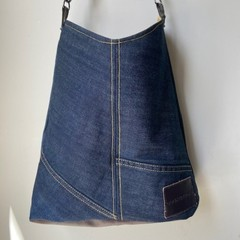 UPCYCLED COUNTRY ROAD DENIM TOTE BAG