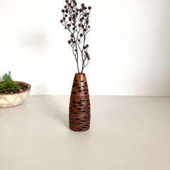 Wooden Vase, Flower bud vase, Housewarming gift, Stick vase, Dried flowers, Gift