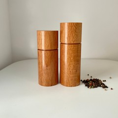 Pepper Grinder, Pepper Mill, Salt and Pepper mill set, Sheoak timber, Mothers Da
