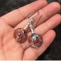 Lampwork Glass Dangle Earrings