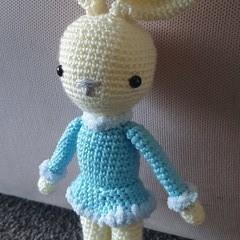 """ Fanny "" the long - legged Bunny, Easter Bunny, Bunny Amigurumi"
