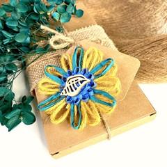 Natural Fibre Flower Embellishment Gift Tag Jute Beach Seashell Decor Rustic