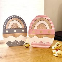 Handmade Wooden Easter Egg Stacker. (8 Piece)