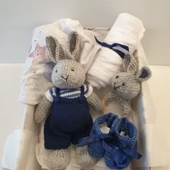 Easter Bunny baby boy gift set