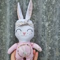 *REDUCED-MARKED* Bebe bunny softie, handmade Easter gift