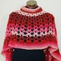 Crochet Asymmetrical Circular Poncho
