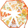 Multi Orange Yellow  Floral Flag Bunting - Vintage Retro