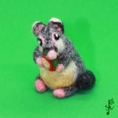 Brush-tailed Possum - Handmade Wool Felt Marsupial