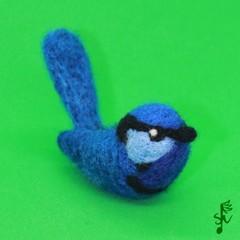 Splendid Fairy-Wren - Handmade Wool Felt Bird