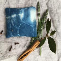 set of 3 herbal drawer sachets, lavender, scented, moth repellent, essential oil