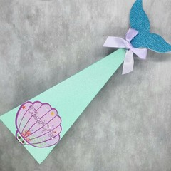 Mermaid Tail DIY Gift Boxes (set of 10) - put together yourself