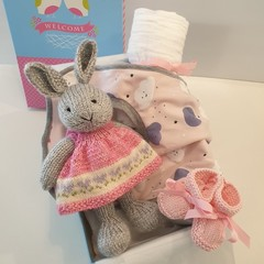 Easter Bunny baby girl gift set