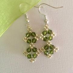 Swarovski Crystal Earrings: Lacie