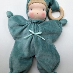Organic Waldorf/Steiner inspired cuddly teething doll