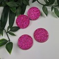 Molly Mega Hot Pink Sparkle Circle - Mega Stud Earrings
