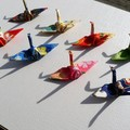 Multi Cranes - handmade - to bring good luck - special occasion gifts