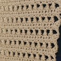 Taupe long warm neutral scarf