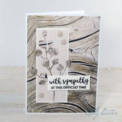 Masculine Sympathy Card, Woodgrain Card