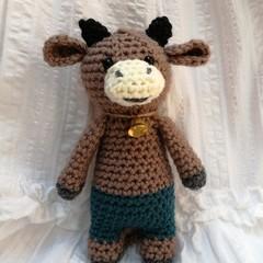 Crochet amigurumi soft toy Bull