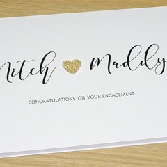 Personalised Engagement or Wedding Day Card