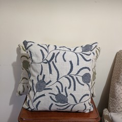 Hand Screen printed Blue Banksia