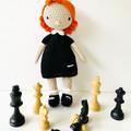 Beth Harmon crochet doll