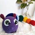 Crochet amigurumi soft toy Rainbow Caterpillar