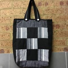 Handmade fabric tote.