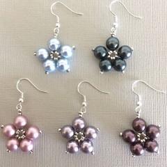 Swarovski Pearl Earrings: Lotus