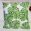 Decorator Cushion 100% Cotton - Tropical Cushions Monstera Leaves