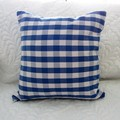 Decorator Cushion 100% Cotton - Blue Gingham Check Cushions